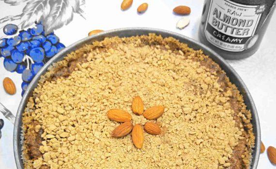 almond cookie pie half