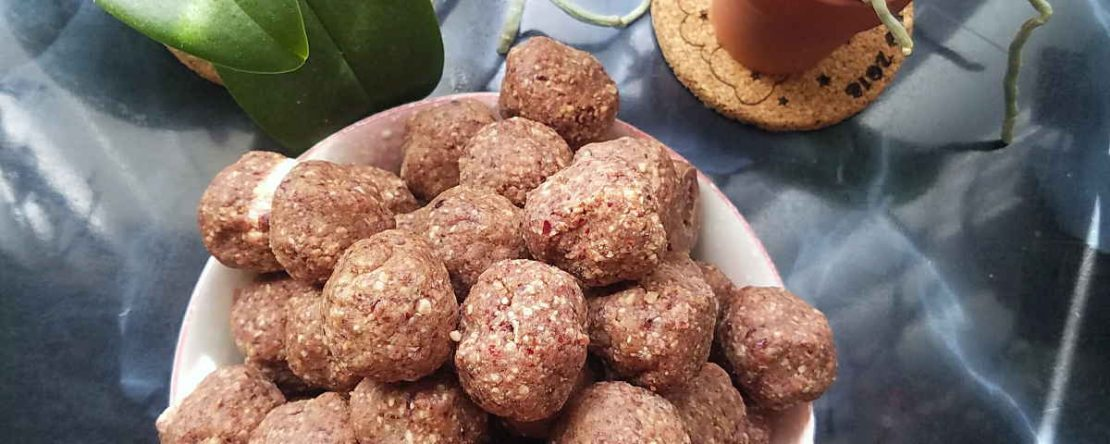 Coconut cranberry sunflower ball cookies