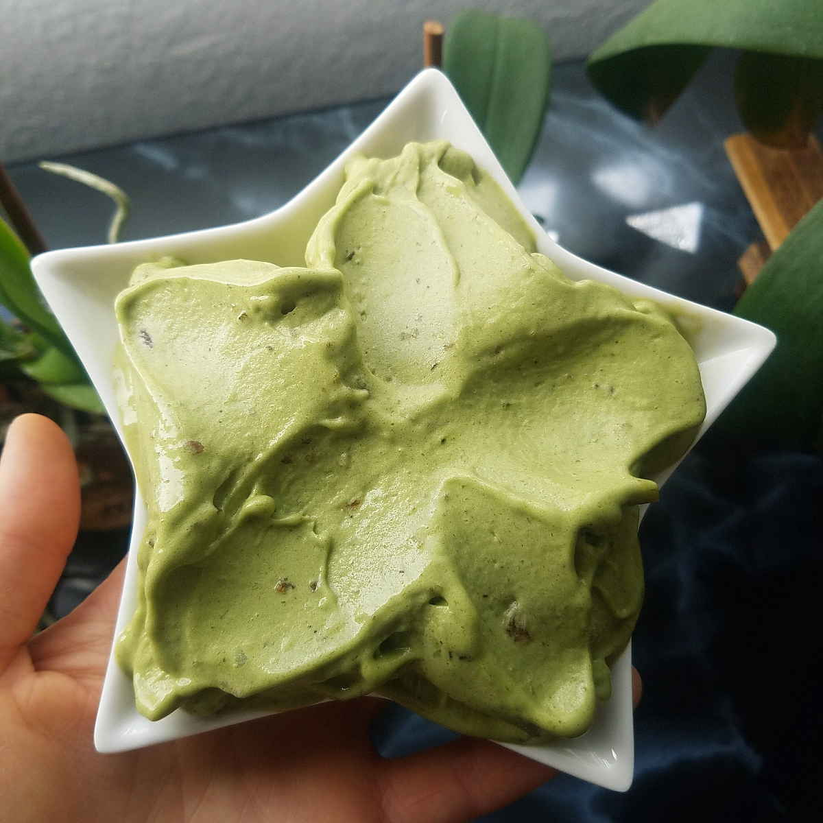 matcha banana ice cream star