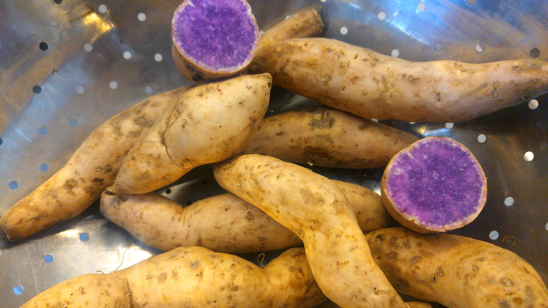 Okinawa purple yams