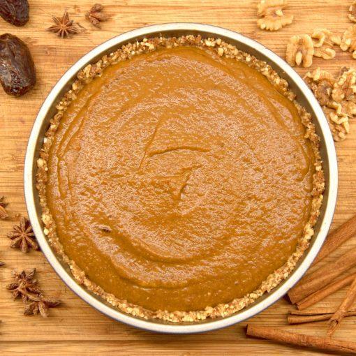 vegan gluten free pumpkin chai pie