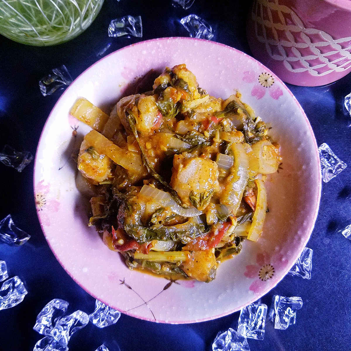 savory chard with curry tomato - allergy friendly